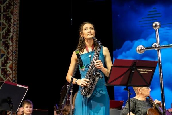 Екатерина Николаева, саксофон - Чувашская симфоническая капелла